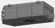 Centrální rekuperační jednotka horizontální stropní - ZL 105HA